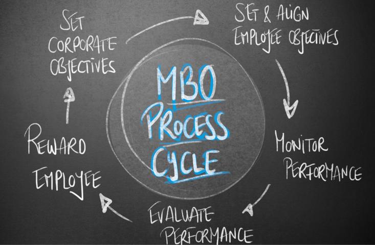 il processo di un sistema MBO identificare i dipendenti, onitorare le performance MBO, valutazione delle performance, aggiustamenti obiettivi Mbo